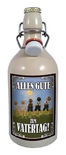 Alles Gute zum Vatertag 0,75 Liter Tonflasche Bier mit Bügelverschluss