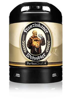 2 x Franziskaner Weissbier Perfect Draft 6 Liter Fass 5,0 % vol. inc. 10.00€ MEHRWEG Pfand