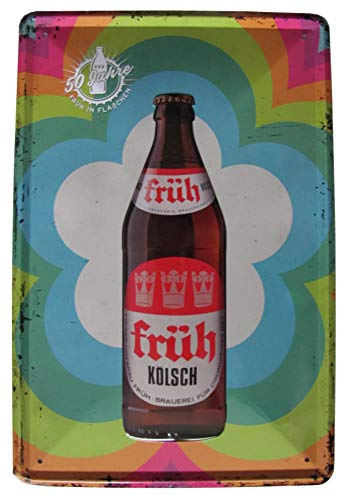 Früh Kölsch - 50 Jahre in Flaschen - Blechschild 30 x 20 cm