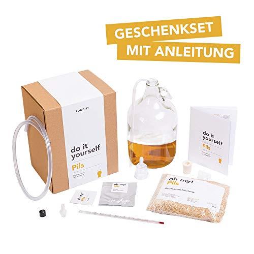 Foodist Bier Brau Set zum Selbermachen | Pils Helles | Premium Geschenkidee für echte Männer und...