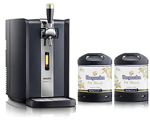 Bierzapfanlage PerfectDraft 6-Liter. Beinhaltet 2 x 6L Fässer Hoegaarden Wit Bier - Weizenbier....