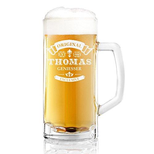 polar-effekt Bierkrug Personalisiert mit Gravur eines Namens und Jahreszahl – Bierseidel...