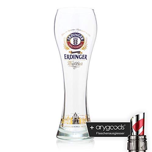 Erdinger Stadtsilhouette Weizenbierglas 0,5l Glas/Gläser, Markenglas, Bie NEU + anygoods...