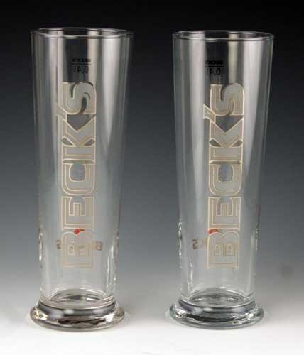 Beck 's 0,4Liter Signature Bier Glas | Set von 2Gläser