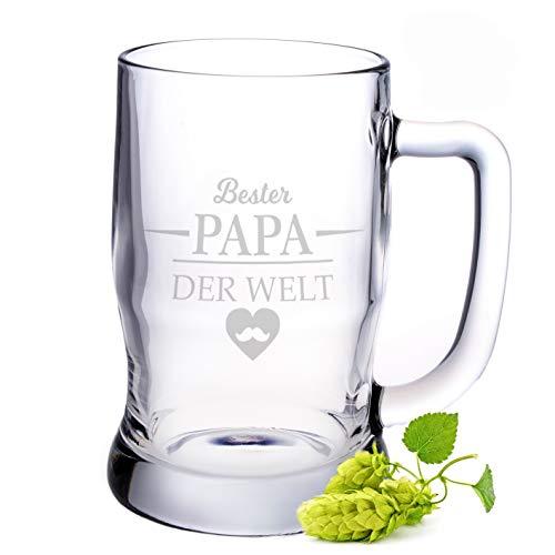 Leonardo Bierkrug mit Gravur - Bester Papa der Welt - Geschenk für Papa ideal als Vatertagsgeschenk...