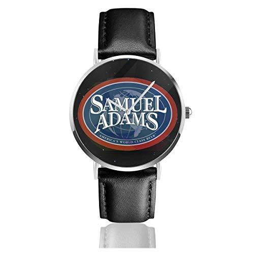 CheXe Samuel Adams Bier Logo Unisex Fashion Lederuhr