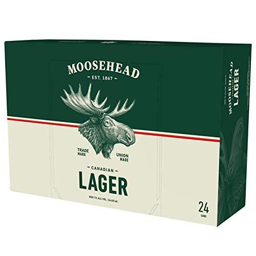 Moosehead Lager Bier 24er Pack (24x355 ml) Dosen - original kanadisches Bier, auch als perfektes...