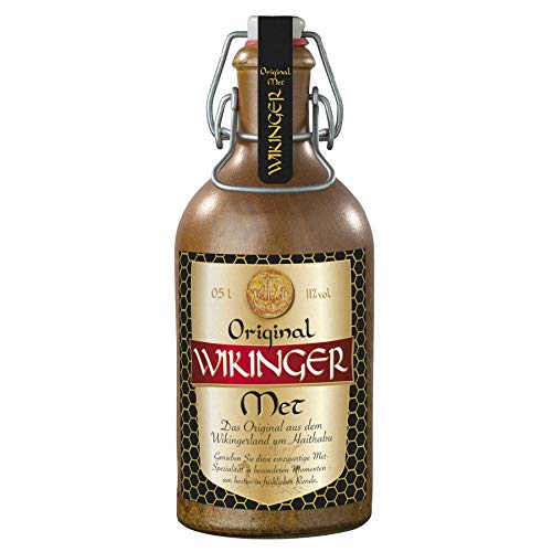 Wikinger Met Original Behn Honigwein 11,0% Vol. im Tonkrug (6x 0,5l = 3l Met)