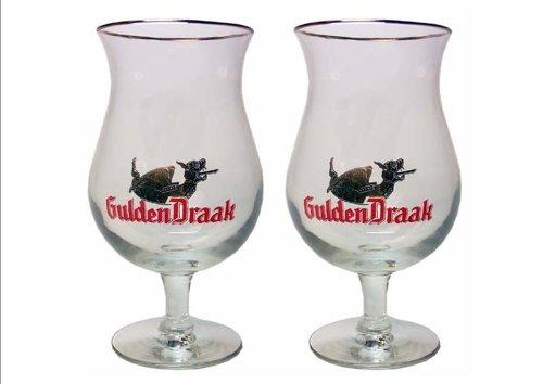 Gulden Draak Belgien Bierglas-Set (2) 'Golden Dragon Belgien Biergläser'