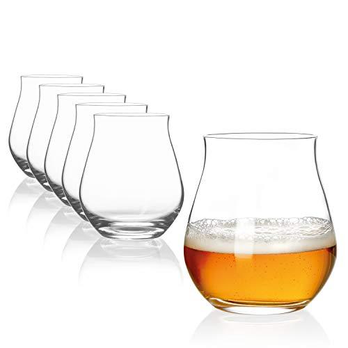 Sahm Biergläser Set 6 STK.   140ml Bier Sensorik Becher   Spülmaschinengeeignete Bier Gläser  ...