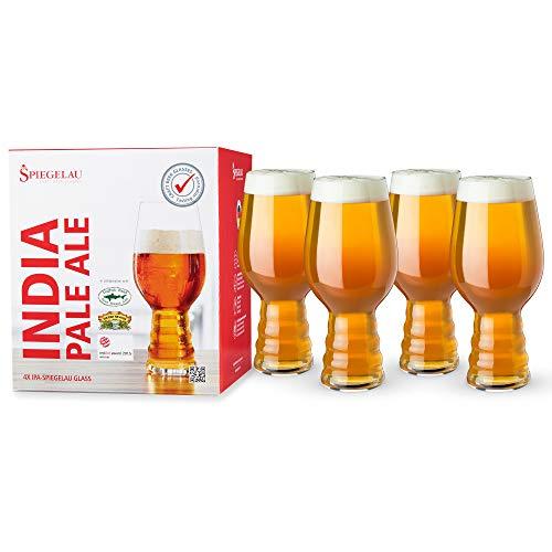 Spiegelau & Nachtmann, 4-teiliges Kraftbier-Glas-Set, India Pale Ale, Kristallglas, 4991382, Craft...