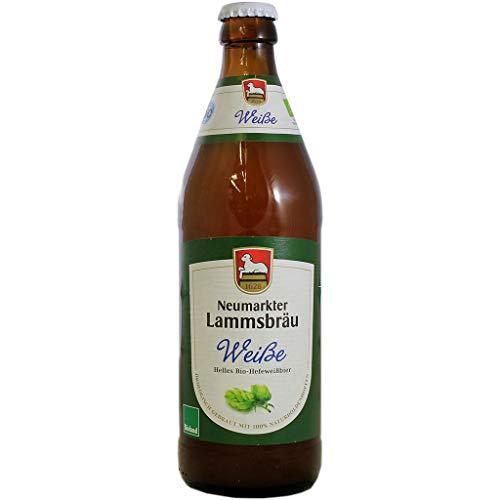 Lammsbräu - Bio Weisse Hefeweizen-Bier Weißbier 5,1% Vol. - 0,5l inkl Pfand