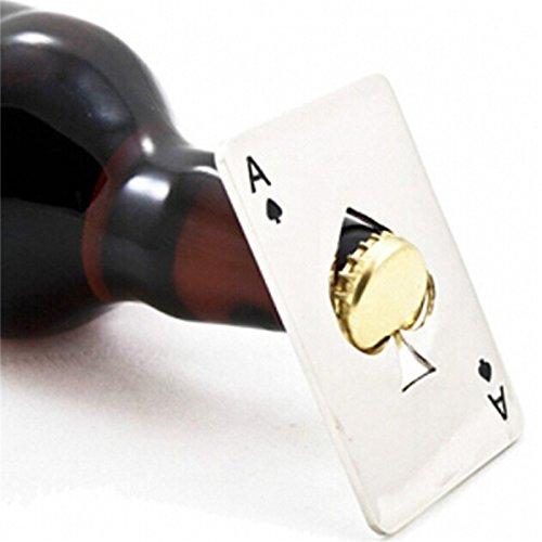N A 1Pc Schwarz Poker Card Flaschenöffner, Spaten Bier Flaschenöffner, Personalized Edelstahl...