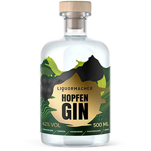 LiquorMacher Gin mit Fiege Hopfen I enthält frische Kräuter & Wachholder I milder Gin mit feiner...