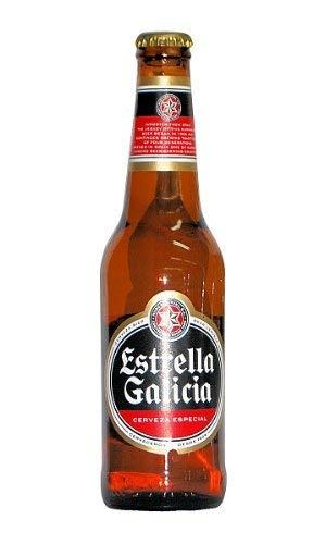Spanisches Bier / Cerveza española Estrella Galicia (Pfandflasche)