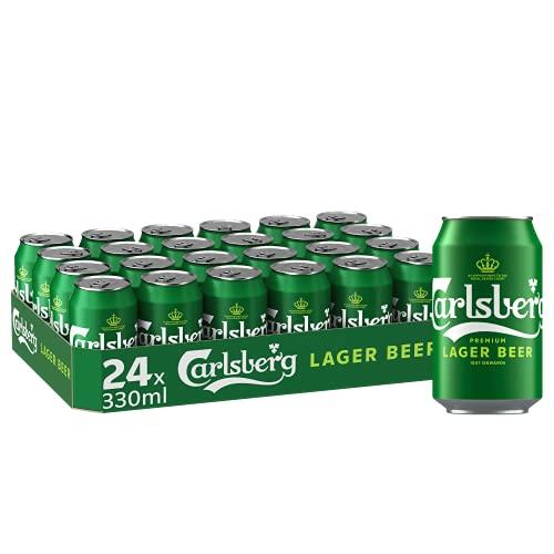 Carlsberg Premium-Lager Beer, Bier Dose Einweg (24 x 0.33 L)