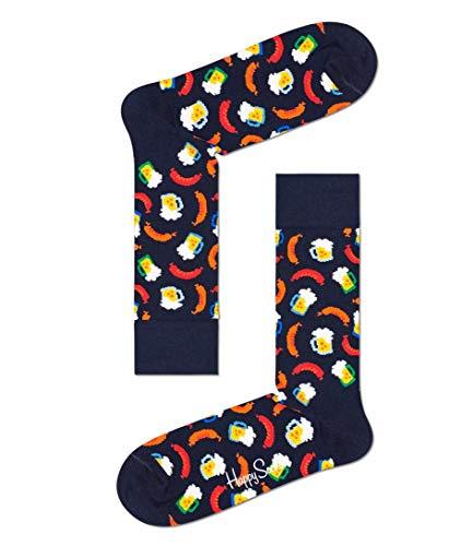 Happy Socks Herren Beer and Sausage Socken, Navy, 4-11 (Size:41-46)