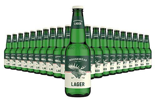 MOOSEHEAD® - Kanadisches Lagerbier Flasche [24er Pack] 24 x 350ml Bier, Canadian Beer   Moosehead...