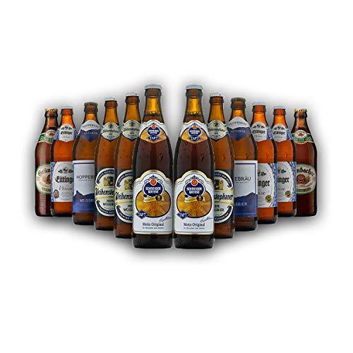 Bayrisches Weißbier-Geschenk-Set in Bierbox (12x0,5l Bier aus Bayern) | Ein Mix aus verschiedenen...