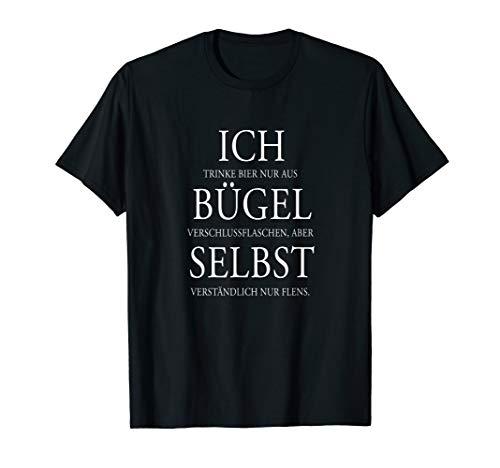 FLENSBURGER Bier Statement 'Ich bügel selbst' T-Shirt
