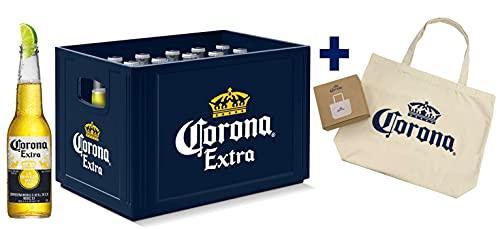 Corona Extra Kasten & Taschenzugabe - 20 Flaschen internationales Premium Lagerbier mit Original...