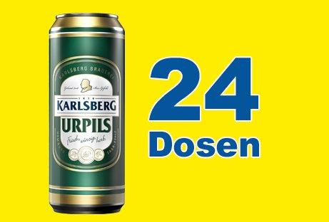 Karlsberg UrPils (24 x 0,5l) Dose inkl. 6,00 Euro DPG Pfand EINWEG