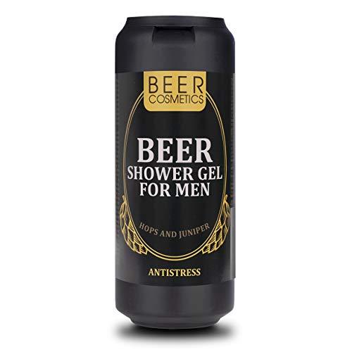 Bier Duschgel für Männer 400ml - Körperpflege - Duschgel mit Hopfenextrakt und Wacholderöl -...