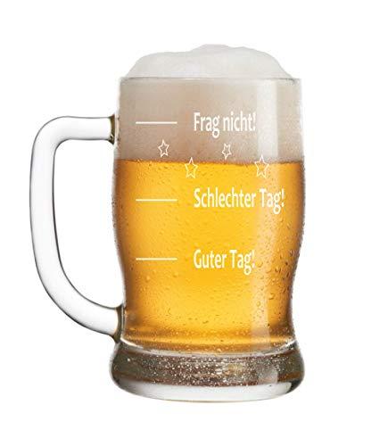 Leonardo Bierkrug Bierseidel mit Gratis Gravur - Guter Tag - Schlechter Tag - Frag nicht! - das...