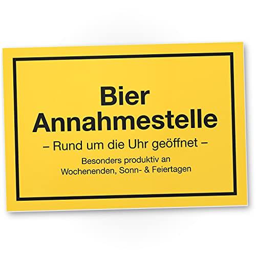 DankeDir! Bier Annahmestelle Kunststoff Schild mit Spruch 30 x 20 cm Lustige Geschenkidee...