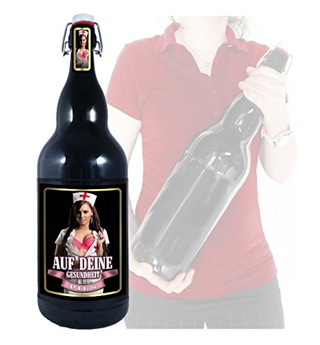 Auf deine Gesundheit - 3 Liter XXL-Flasche Bier mit Bügelverschluss