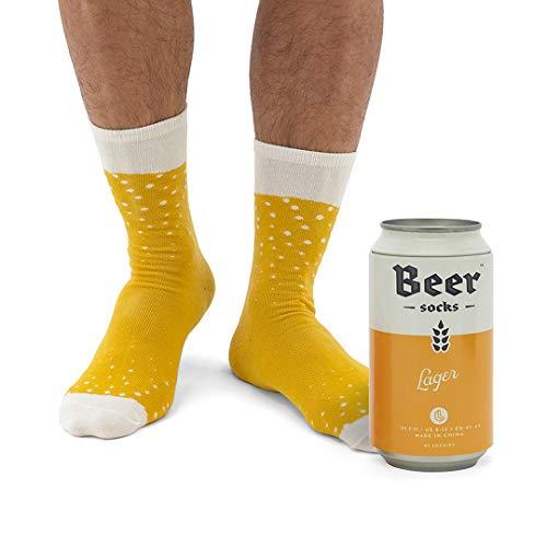 Neuheit Biersocken - Bunte Socken für Männer, aus weichem Baumwoll-Nylon - Lustige Socken für...