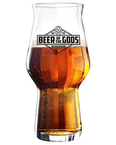 WACKEN BRAUEREI 1 Stück Stout Craft Beer Glas   Beer of The Gods   spülmaschinenfest ca. 500ml  ...