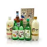Sulsul Box mit 6 koreanischen alkoholischen Getränken – Ausgewählter Mix aus vielseitigen...