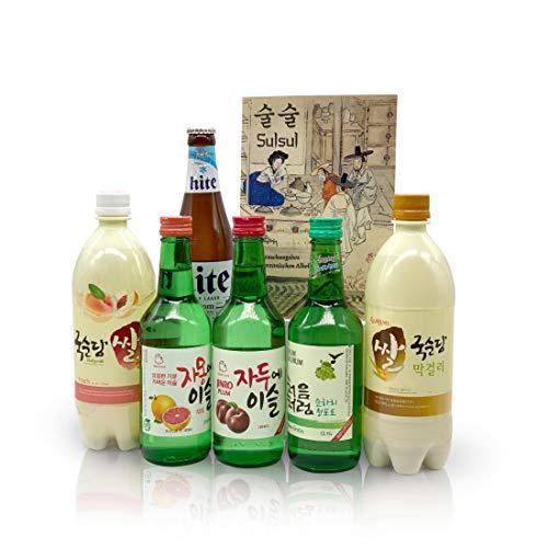 Sulsul Box mit 6 koreanischen alkoholischen Getränken - Ausgewählter Mix aus vielseitigen...