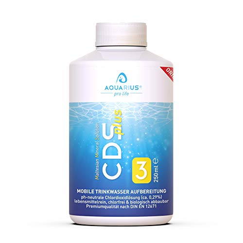 AQUARIUS pro life ® - CDSplus 250 ml - patentierte Chlordioxid Lösung I Konformität vom TÜV...