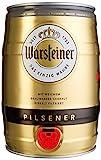 Warsteiner Premium Pilsener 5 Liter Fass – Partyfass mit Zapfhahn – Internationales Bier nach...