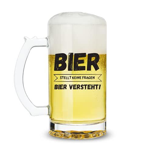 Lustig Bier Geschenk für Männer Papa Ihn Opa Freund, Biergläser 0,5l Biergeschenk für Vatertag...