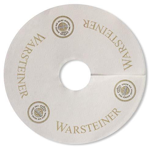 Warsteiner Tropfendeckchen Bier Glas Pilsdeckchen Kragen Schaum Fänger Papier Lätzchen Manschette...