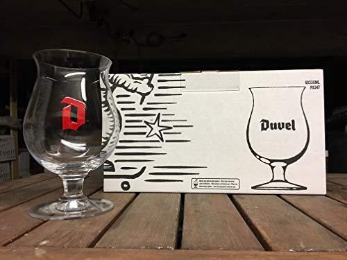 Duvel Beer Chalice Glasses (Set of 6) + 6 Duvel Beer Mats