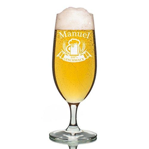 polar-effekt Leonardo Bierglas 0,3l - Pilstulpe Personalisiert mit Gravur - Motiv Bierkrug 100%...