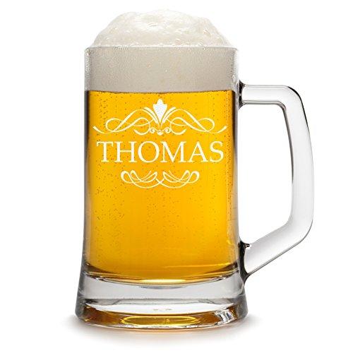 polar-effekt Bierkrug Personalisiert mit Gravur eines Namens - Bierseidel Geschenk zum Geburtstag...