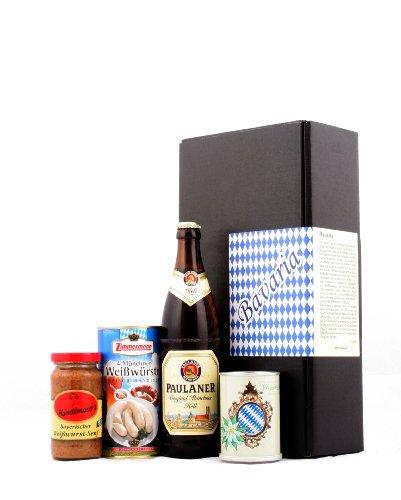 Typisch bayrisch - Bayern & München Spezialitäten Geschenk (Bier, Weißwurst, Senf & Edelweiss) -...