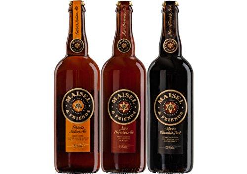 Craft Beer Paket Maisel & Friends Bier mit 3 großen Bierflaschen - Jeff's Bavarian Ale + Stefan's...