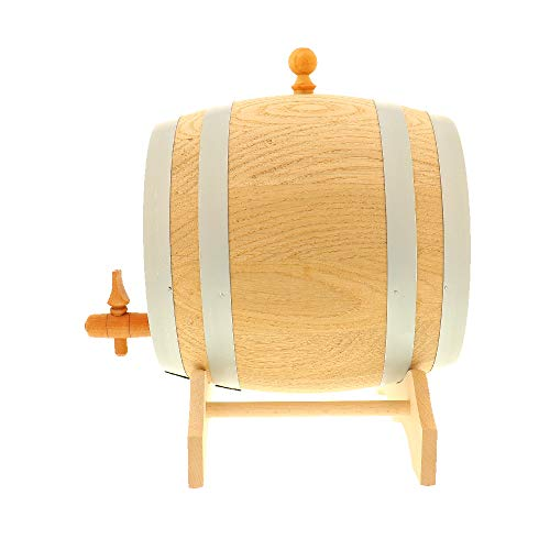 HOFMEISTER® 2 Liter Eichen-Fass, für Wein, Whisky & Schnaps, traditionelle EU Handarbeit, inkl....