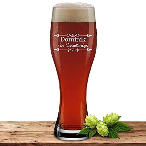 Bierglas mit Name oder Wunschtext, Weizenbierglas 0,5l inkl. Gravur, individuelles Geschenk,...
