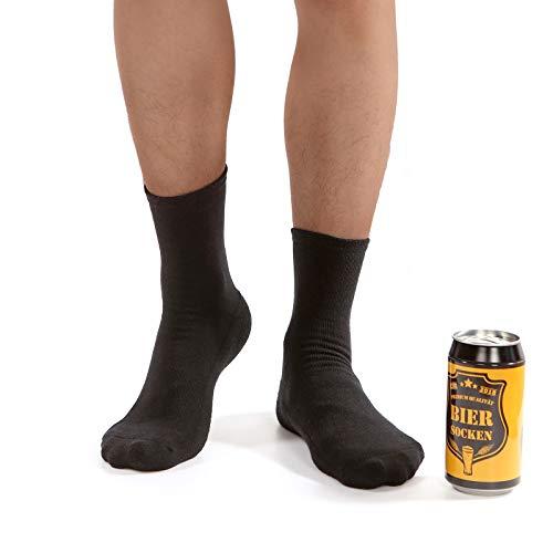 Bier Socken Herren + Flaschenöffner aus Edelstahl, Bier Geschenke für Herren, Geburtstagsgeschenk...