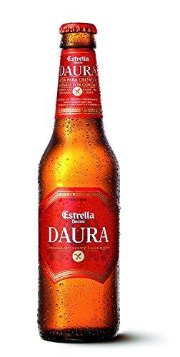 6 Flaschen Glutenfrei Estrella Daura Damm Barcelona Bier Gluten frei a 0,33l inc. 0.96€ MEHRWEG...