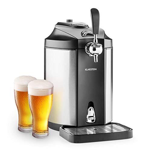 Klarstein Skal - universelle Bierzapfanlage mit integriertem Bierkühler, Kühlung auf 2-12 °C,...