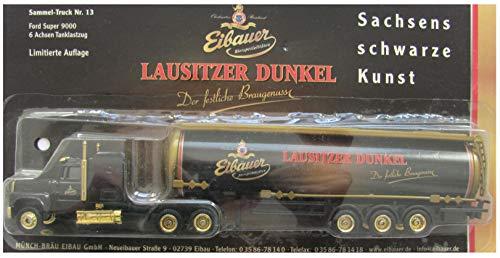 Eibauer Münch-Bräu Nr.15 - Lausitzer Dunkel - Ford 9000 - US Sattelzug mit Tankauflieger