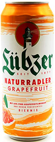 Lübzer Naturradler Grapefruit, 24er Pack (24 x 0.5 l) EINWEG